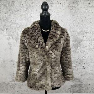 """NIC + ZOE Plush """"Feather"""" Coat"""